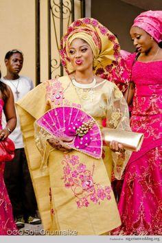 Nigerian Weddings: 23 Traditional Engagement Wedding Hand Fan Design, Colors…