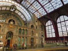 We stopped at the Antwerpen-Centraal railway station on our way to Bruges, Belgium