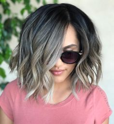 hair highlights ombre These Coolest Brunette to Grey Ombre Chin Length Hairstyles for Women To Reach P. These Coolest Brunette to Grey Ombre Chin Length Hairstyles for Women To Reach Perfection Hair Highlights, Balayage Hair, Ash Blonde Balayage Short, Hair Trends, New Hair, Hair Inspiration, Curly Hair Styles, Chin Length Hair Styles For Women, Hair Makeup