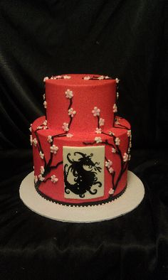 Dragon Cake Cherryblossomcake Cakesbydarcy Atlanta Birthday Cakes For Teens