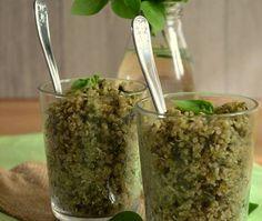 Κινόα αλ πέστο How To Dry Basil, Pesto, Quinoa, Herbs, Favorite Recipes, Food, Party Ideas, Essen, Herb