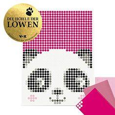 "dot on Panda Poster - 30 x 40 cm Bekannt Aus""Die Höhle Der Löwen"" dot on art Diy Kleb Dir Dein Eigenes Kunstwerk panda Diy Panda, Diy Poster, Pixel Art, Invitations, Feelings, Gifts, Fictional Characters, Lion's Den, Children Pictures"