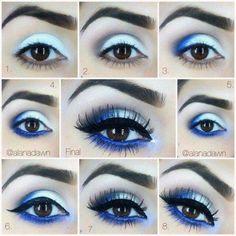 f42e630107 Make up blue tutorial de maquigem azul Maquillaje Árabe, Maquillaje Social,  Trucos De Maquillaje