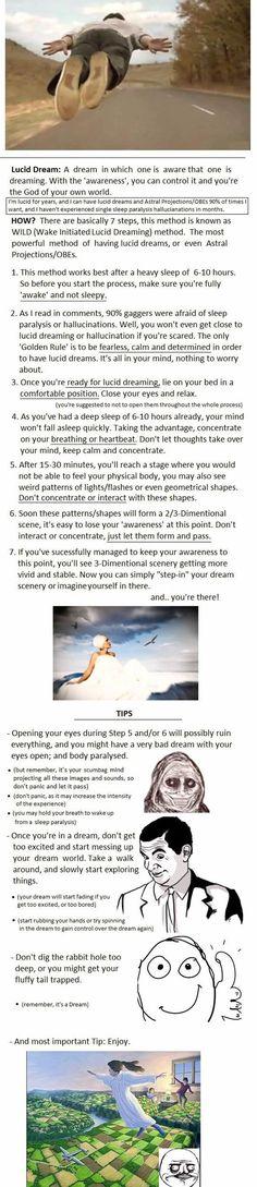 How To Have Very Vivid Dreams