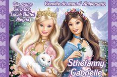 Convite digital personalizado da Barbie 032