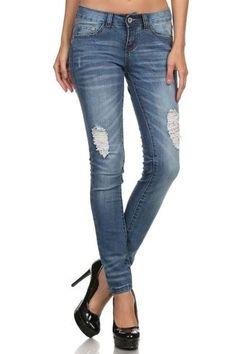 American Premium Denim Distressed Skinny Jean
