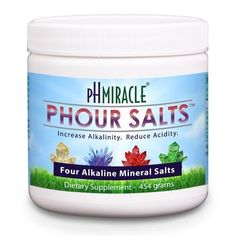Young Phorever Phour Salts By Ph Miracle Living and Dr. Robert O Young Provides Four Salt Minerals Sodium Bicarbonate, Magnesium Chloride, Potassium Bicarbonate, and Calcium Chloride http://www.amazon.com/dp/B00CELD3VG/ref=cm_sw_r_tw_dp_avFGsb18EWKVR