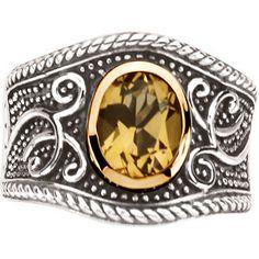 Genuine Honey Quartz Ring -90007961 from perrysemporium.com