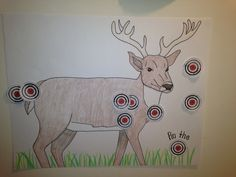 """Pin the Target on the Deer""- a game for Hunting Birthday Party Camo Birthday Party, Camo Party, 6th Birthday Parties, 1st Boy Birthday, Birthday Ideas, Birthday Crafts, Deer Hunting Party, Deer Hunting Birthday, Hunting Theme Parties"
