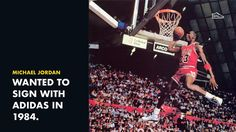 "Michael Jordan wanted to sign with Adidas back in the '84. He called himself ""Adidas nut"". #snkrsgenius"