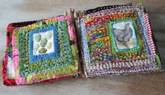 Art journal inspiration. Rambling Rose. Typepad blog. Chicken coop fabric book 2