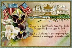 Memorial Day Vintage Greeting Card, Daddy was in the Army, Brother was in the Navy this honors both! Description from http://pinterest.com. I searched for this on bing.com/images