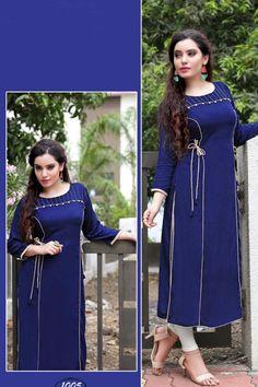 Blue-Evening-Wear-Designer-Long-Length-Rayon-Kurti-For-Ladies-1005-8787 #bulk #wholesale #wholesalesupplier #wholesaledealer #bulksupplier #bulkdealer #rayon #kurti #kurta #wholesaler #stylish  #kurtiwholesaler #kurtiwholesalesupplier #kurtibulksupplier #kurtibulkdealr #kurtawholesaler #suratwholesaler #latestkurtis #officewear #printed  #tunics #LKFABKART