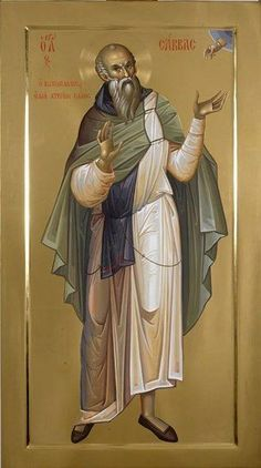Saint Sabbas the Sanctified - Romanian Iconographer Fr. Religious Icons, Religious Images, Religious Art, Byzantine Art, Byzantine Icons, Church Icon, Christian Images, Christian Faith, Russian Icons