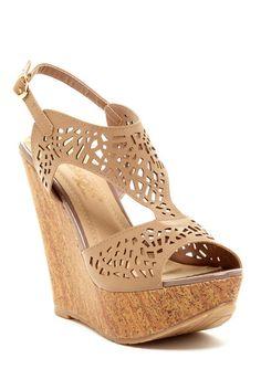 Elegant Footwear | DbDk Fashion Derrna Laser Cut Wedge Sandal | Nordstrom Rack