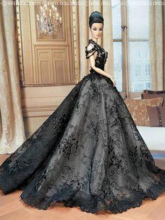 Eugenia | Fine Romance modeling Eifel gown