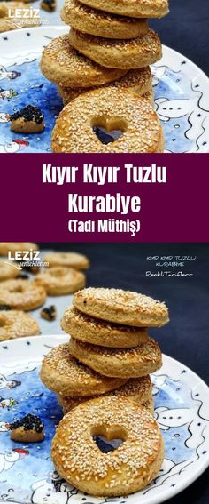 Minced Potato Salt Cookies (Awesome) – My Delicious Food - Türkische Küche Ideen Homemade Beauty Products, Bagel, Doughnut, Cookie Recipes, Dinner Recipes, Food And Drink, Yummy Food, Bread, Cookies