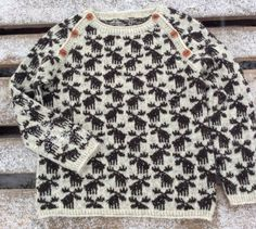 Elge, Moose knit sweater. 1-8 years