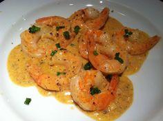 Shrimp with Garlic Cream Sauce