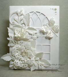 Window Card   with DooHickey and Poppystamps Dies