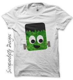 Frankenstein Iron on Shirt PDF - Halloween Iron on Transfer / DIY Kids Halloween Shirt / Cute Baby Clothes / Toddler Boys Clothing Tops by ScrapendipityDesigns, $2.50