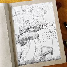 working on the cover page for october Bullet Journal Vidéo, Bullet Journal October, Journal Covers, Journal Pages, Journal Organization, Journal Aesthetic, Cover Pages, Journal Inspiration, Doodles