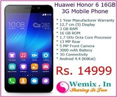 Huawei Honor 6 16G 3G Mobile Phone Rs 14999