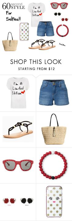 """""""60 Second Style Doing The Selfie"""" by paula714 ❤ liked on Polyvore featuring WearAll, LE3NO, Yves Saint Laurent, Lokai, soo n soo, Kate Spade, 60secondstyle, PVShareYourStyle and plus size clothing"""