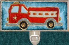 Hey, I found this really awesome Etsy listing at https://www.etsy.com/listing/158064194/fire-engine-night-light-for-boys-room
