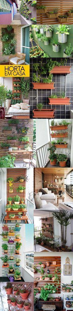 Como montar uma horta vertical na sua varanda