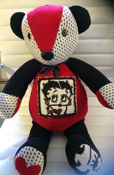 Hand crafted from Betty Boop blanket/throw www.teddyangels.com