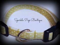 Green and White Polka Dot Adjustable Dog Collar by SparklePupBoutique on Etsy