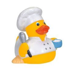 Rubber Cuisine Chef Duck | Promotional Rubber Duck | Imprinted Ducks