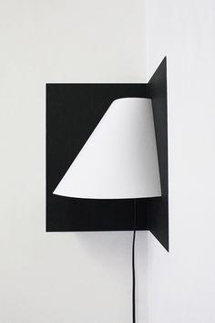Pop-up corner light, la lámpara de papel de Well Well Designer