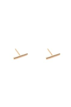 """Hammered surface provides a little extra sparkle and shine.    Approx. Measures: 1/2"""" long.   Stick Earrings by Melene Kent Jewels. Accessories - Jewelry - Earrings - Studs Essex, Boston, Massachusetts"""