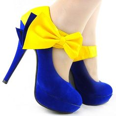#Shoes - Show Story New Ladies Bow Ankle Strap Stiletto Platform Pumps Shoes,LF30412 [Was: $59.99 Buy Now: $35.99]