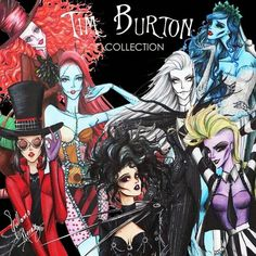 Tim Burton Movie-Inspired Fashion Art Series