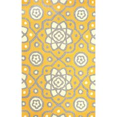 Found it at Wayfair - Ayer Yellow Outdoor Area Rug