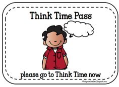 Behavior Management - Think Time - PBIS- Walk a turf lap/track lap to think and then have conversation about behavior. Classroom Behavior Plans, Classroom Discipline, Classroom Procedures, Positive Behavior Management, Positive Behavior Support, Classroom Management, Classroom Organization, Social Emotional Learning, Social Skills