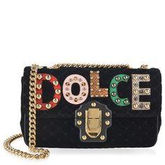 Dolce and Gabbana | Lucia Larget Velvet Bag