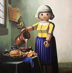 Pierre Adrien Sollier Playmobil paintings: Laitiere