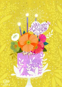Happy Birthday Greetings Friends, Happy Birthday Wishes Images, Happy Birthday Pictures, Birthday Blessings, Birthday Greeting Cards, Happy Birthday Beautiful, Happy Birthday Flower, Happy 2nd Birthday, Happy Birthday Artist