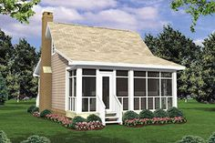 Cottage Rear Elevation Plan #21-204 - Houseplans.com rear view of the exterior
