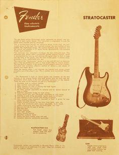 1950's Fender Stratocaster Catalogue