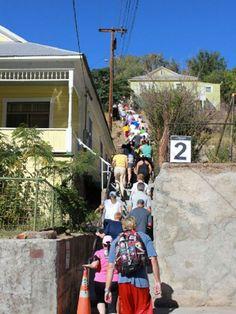 10/18: Bisbee 1000 stair climb, beer fest