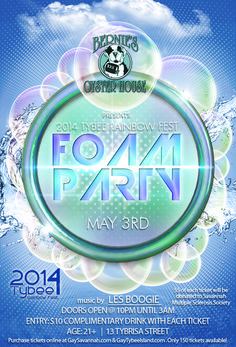 2014 Tybee Rainbow Fest Foam Party at Bernie's Oyster House