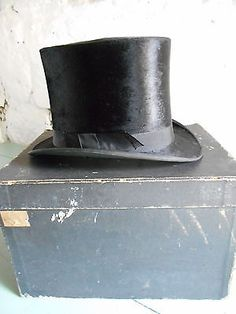 Fine #antique victorian gentleman's silk top hat & box upton #london derby #ascot,  View more on the LINK: http://www.zeppy.io/product/gb/2/322032856389/