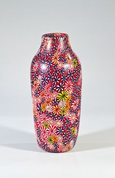 Vase ''Kiku'' Ermanno Toso, Fratelli Toso, Murano.