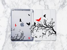 Birds iPad Pro Case Tree Branch iPad Air 3 Case Nature iPad Air 3 Smart Cover iPad Air 2 Case iPad Pro 11 inch Case for iPad Air Samsung Cases, Iphone Cases, Custom Ipad Case, Ipad Air 2 Cases, Plastic Design, Ipad Pro, Plastic Case, Tree Branches, Ipad Mini