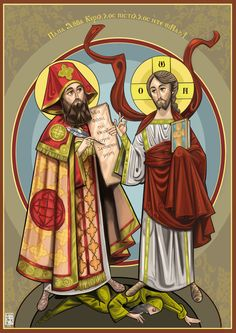 Our lord and St. Cyril of Alexandria by Mina Anton, via Behance